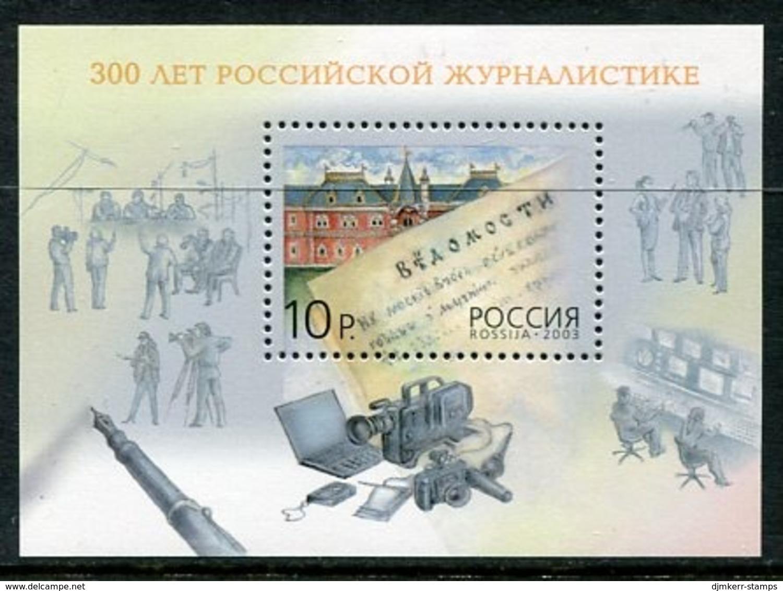 RUSSIA 2003 Tercentenary Of Journalism MNH / **.  Michel Block 62 - 1992-.... Föderation