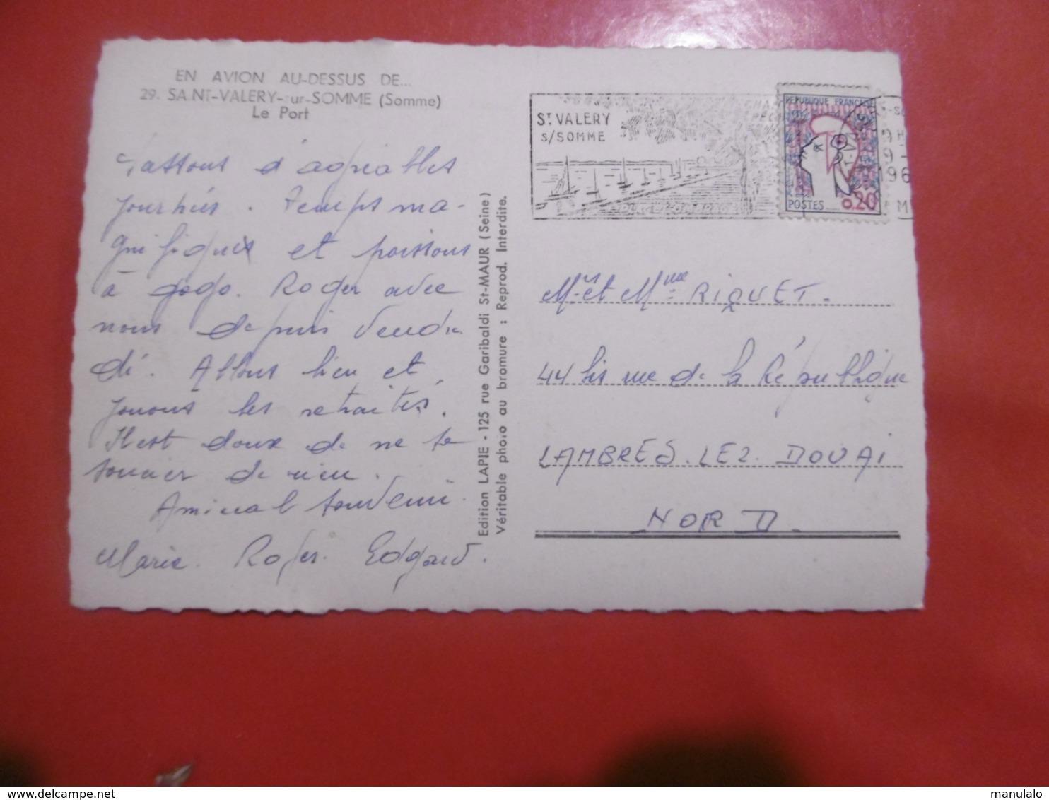 D 80 - Saint Valery Sur Somme - Le Port - En Avion Au-dessus De.. - Saint Valery Sur Somme