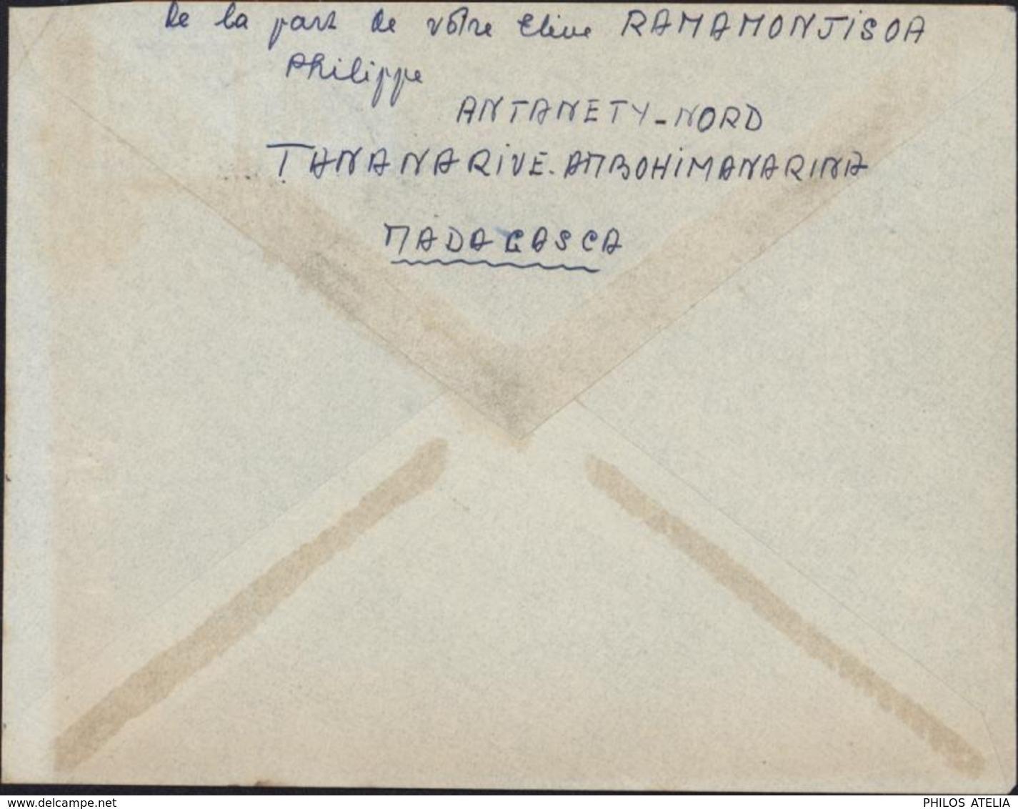 YT 313 325 Lyautey CAD Perlé Tananarive Ambohimanarina Madagascar 17 2 1956 Jamais Vu - Madagascar (1889-1960)