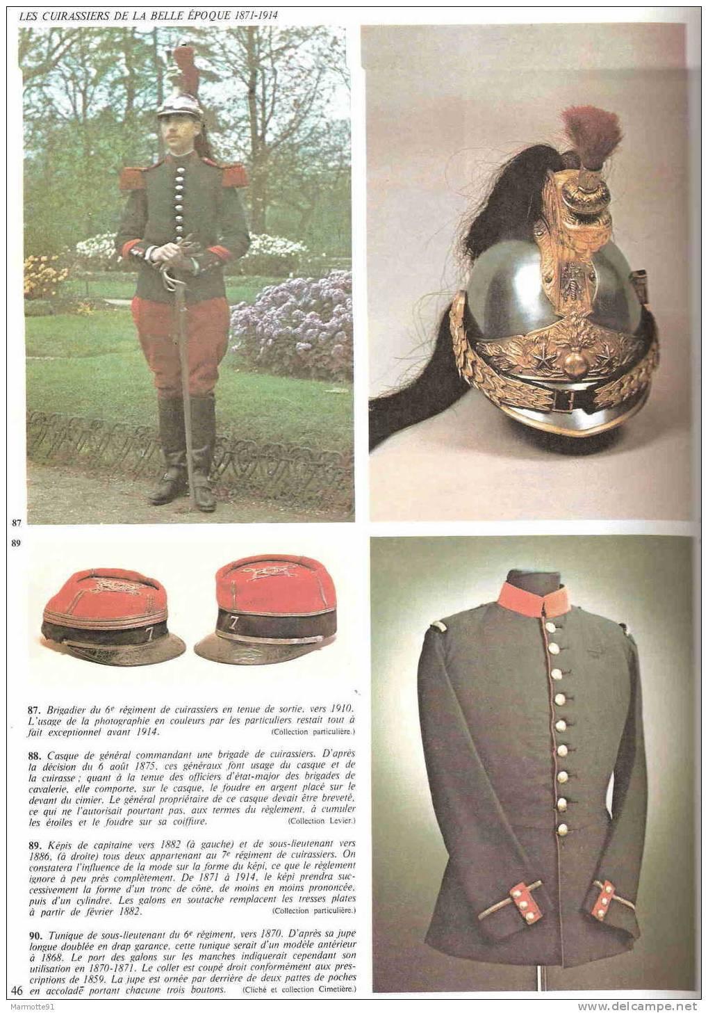 HISTORIQUE LES CUIRASSIERS 1845 1918 CAVALERIE UNIFORME CASQUE CUIRASSE SABRE EMPIRE GUERRE 1870 1914 - Libri