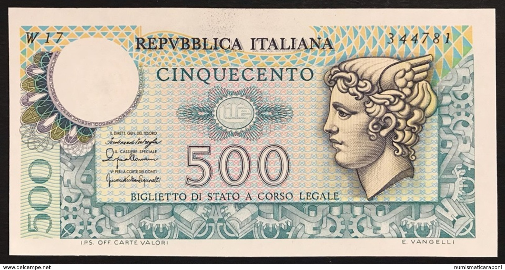 500 Lire Mercurio 1976 W 17 Sostitutivo Raro Q.fds  LOTTO 2162 - 500 Lire