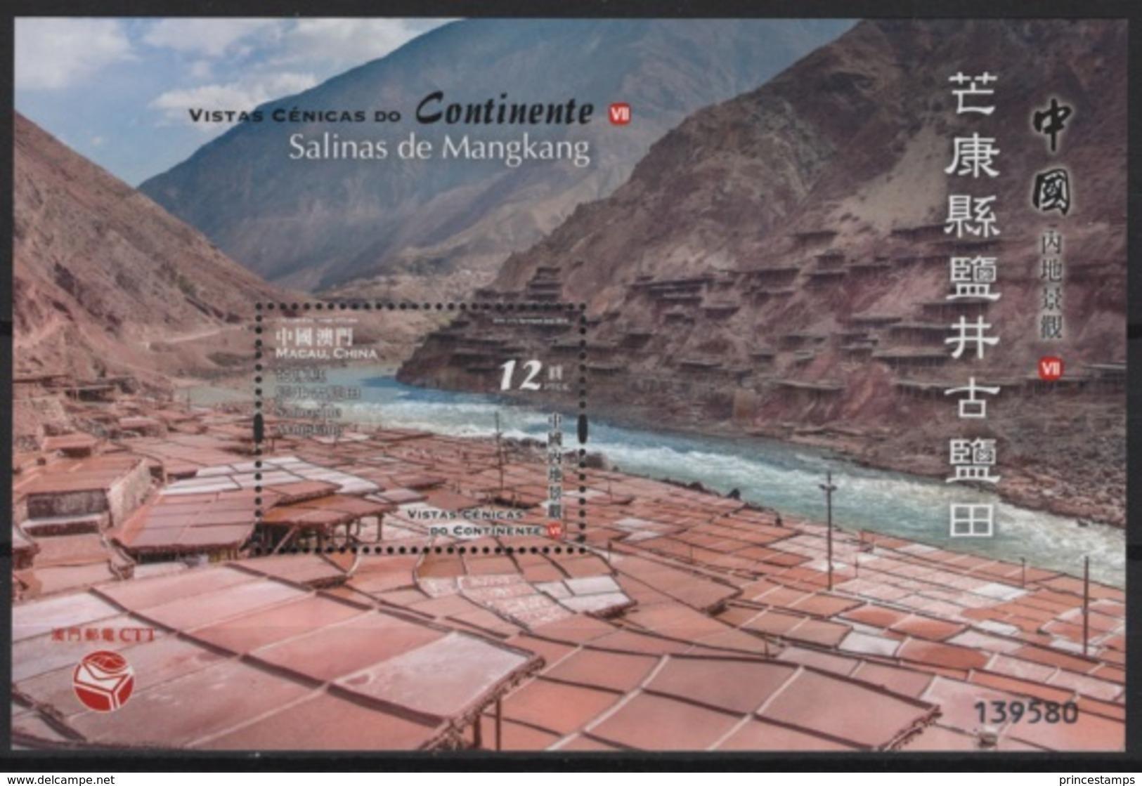 Macao - Macau (2018)  - Block -  /   Heritage - Nature - Salt - Mangkang - Minerals - Unused Stamps