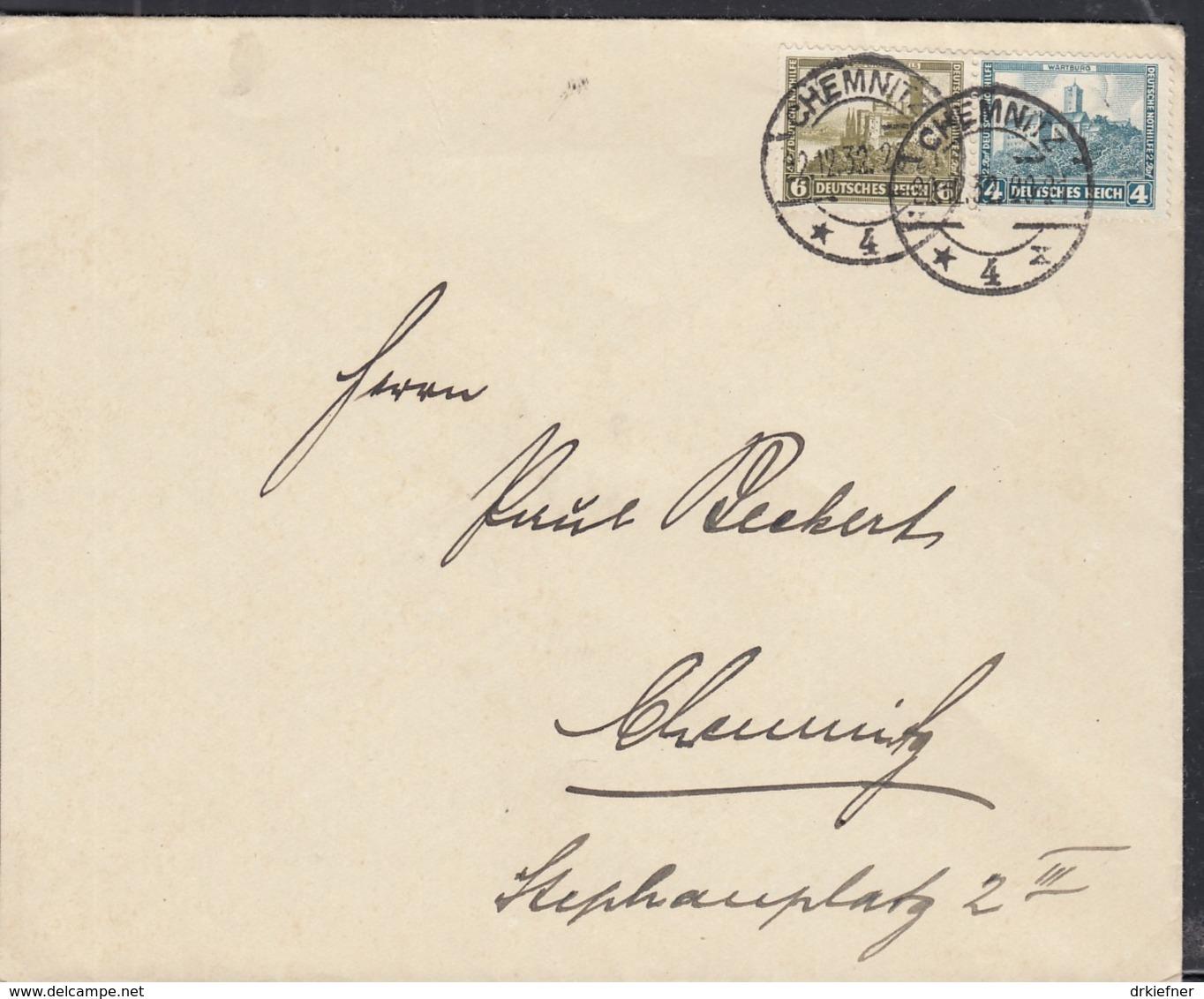 DR 474-475 MiF Auf Orts-Brief  Mit Stempel: Chemnitz 22.12.1932 - Duitsland