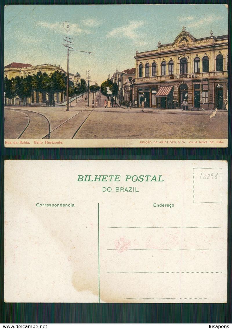 BRASIL [OF # 16298] - BRAZIL - BELLO Belo HORIZONTE - RUA DA BAHIA HOTEL GLOBO - Belo Horizonte