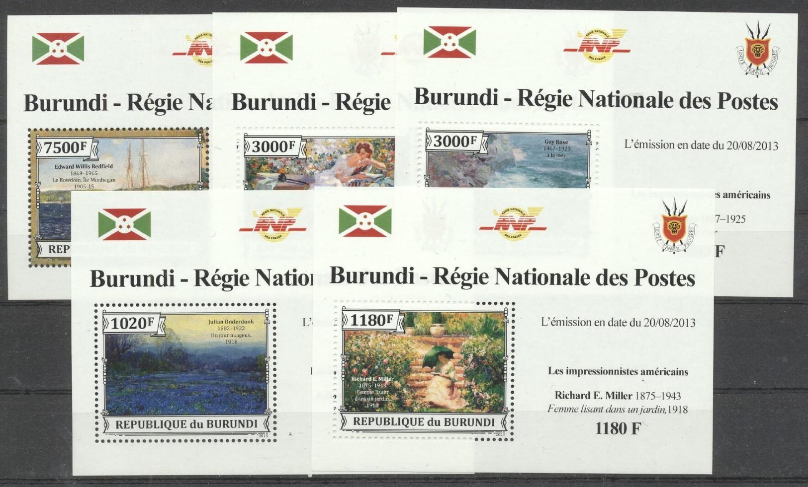Burundi 2013 - MNH Special Sheetlet - Art (262003) - Ohne Zuordnung