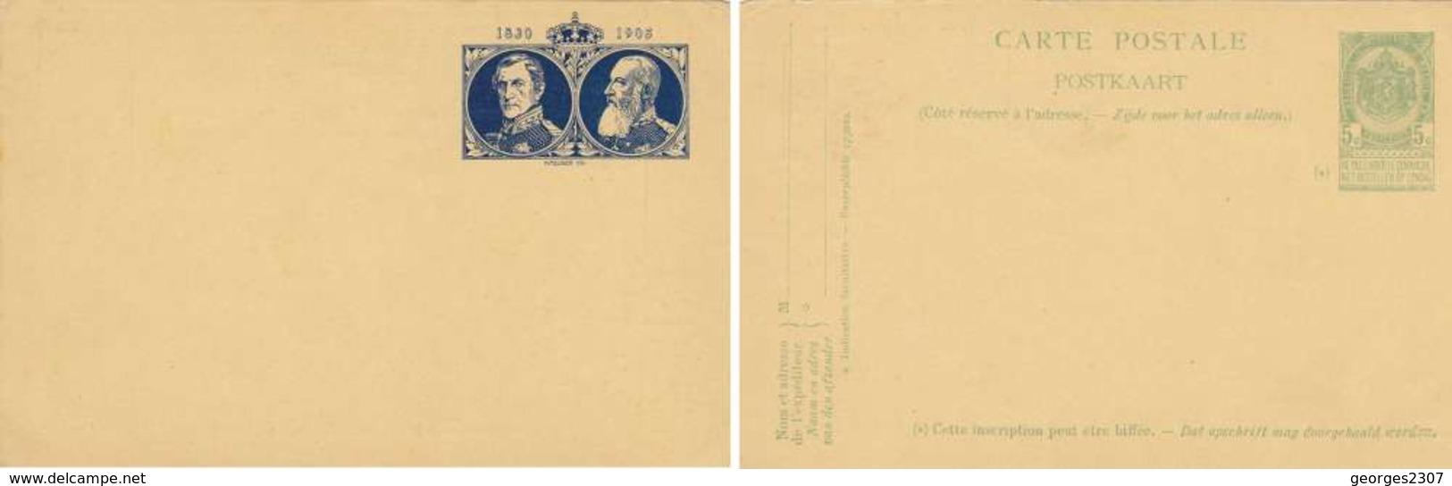 ♦ -belgique -ENTIER POSTAL - CARTE DE BELGIQUE 5C. NE PAS LIVRER LE DIMANCHE - Stamped Stationery