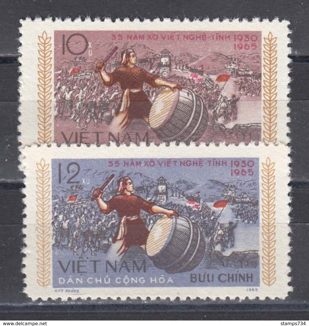 Vietnam Nord 1965 - The Raete Of Nghe-An And Ha-tinh 1930, Mi-Nr. 397/98, MNH** - Vietnam