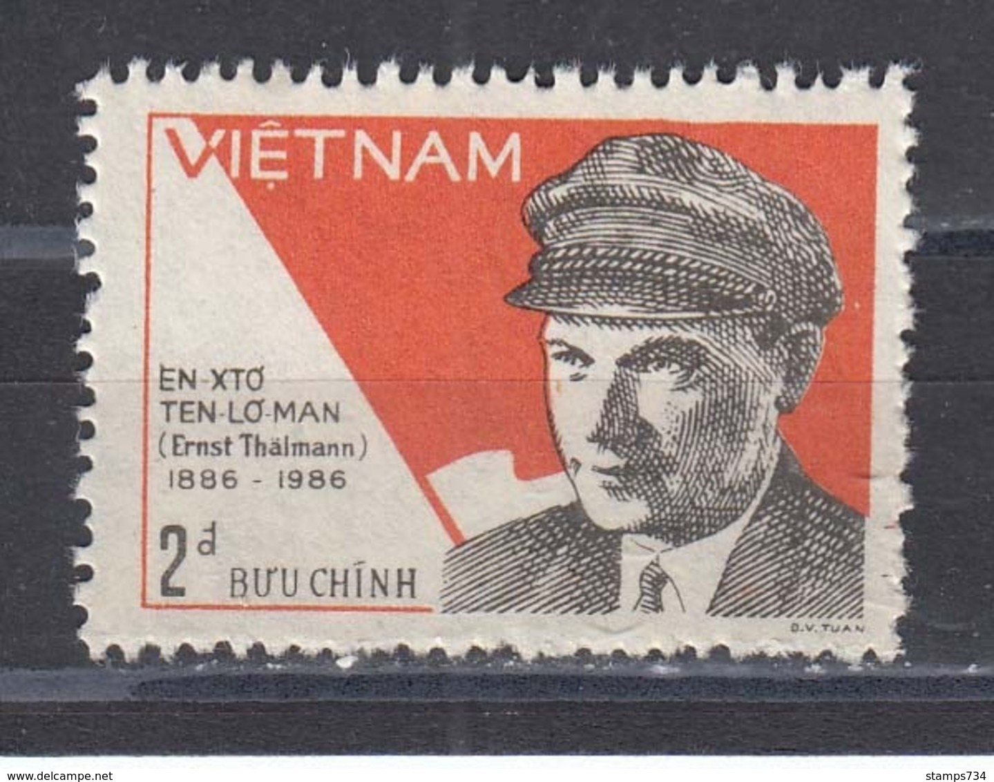Vietnam 1986 - Ernst Thaelmann, Mi-Nr. 1680, MNH** - Vietnam