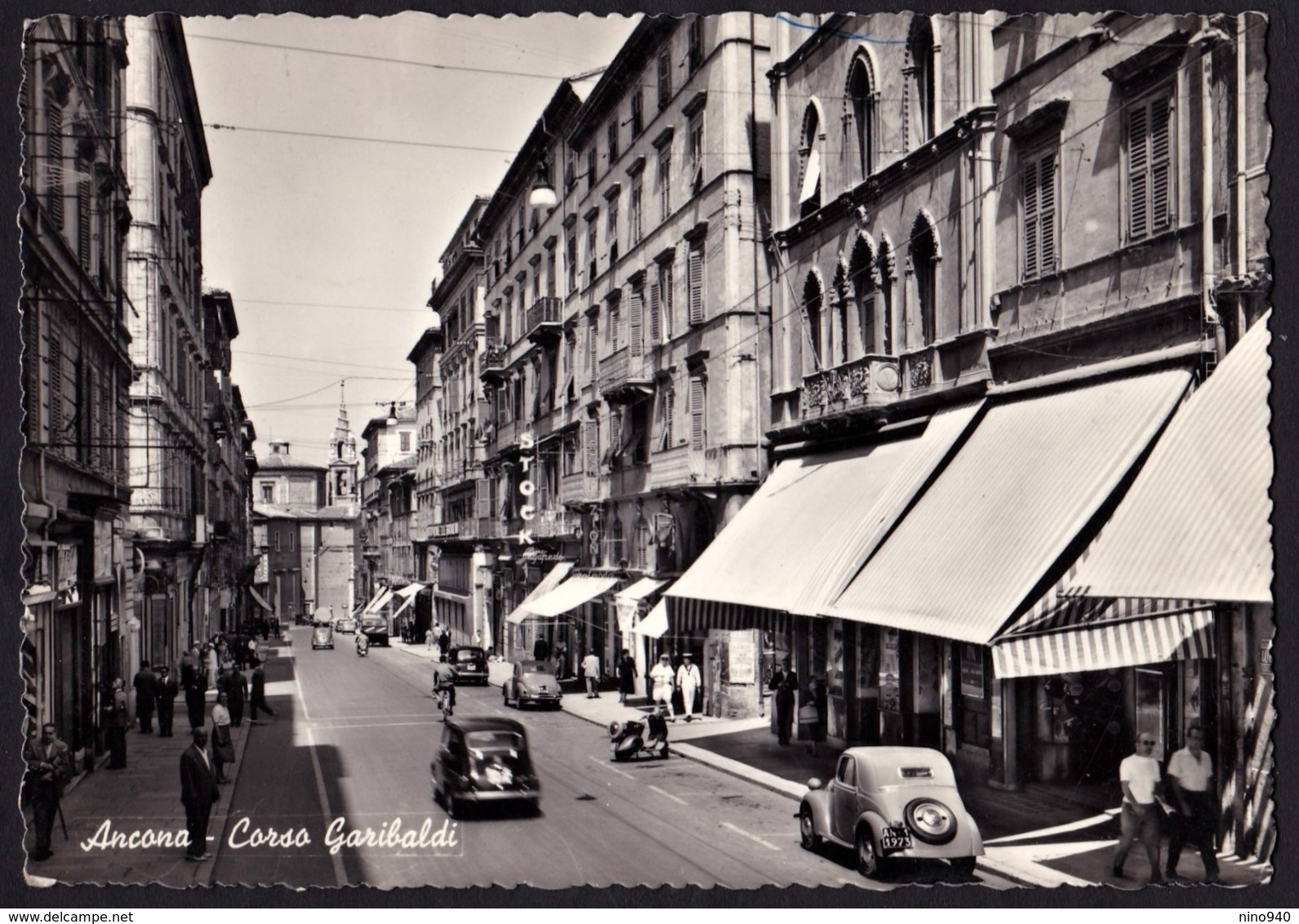 ANCONA - Corso Garibaldi - F/G - V: 1957 - Animata-auto - Ancona