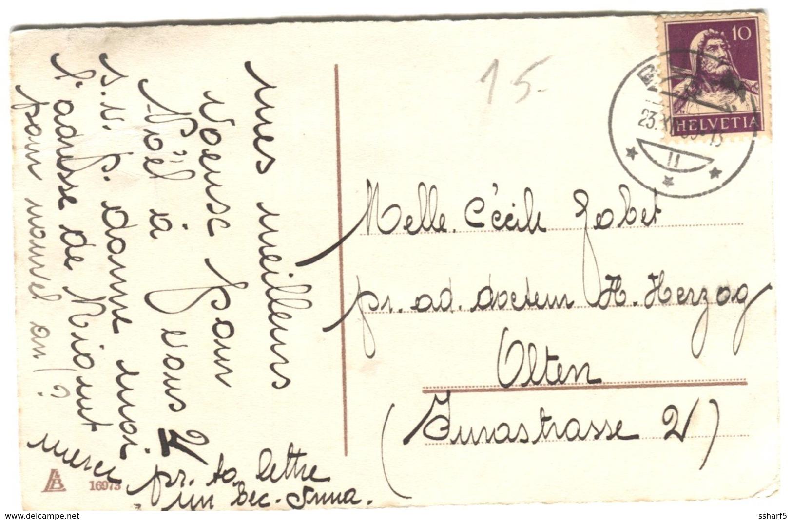 SUISSE SCHWEIZ SWITZERLAND Heureux Noël Small Girl Ringing A Bell Sent 1930 Basel - Natale
