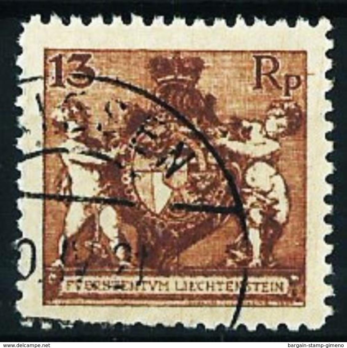 Liechtenstein Nº 50A (dentado-12 1/2) Usado Cat.80€ - Used Stamps