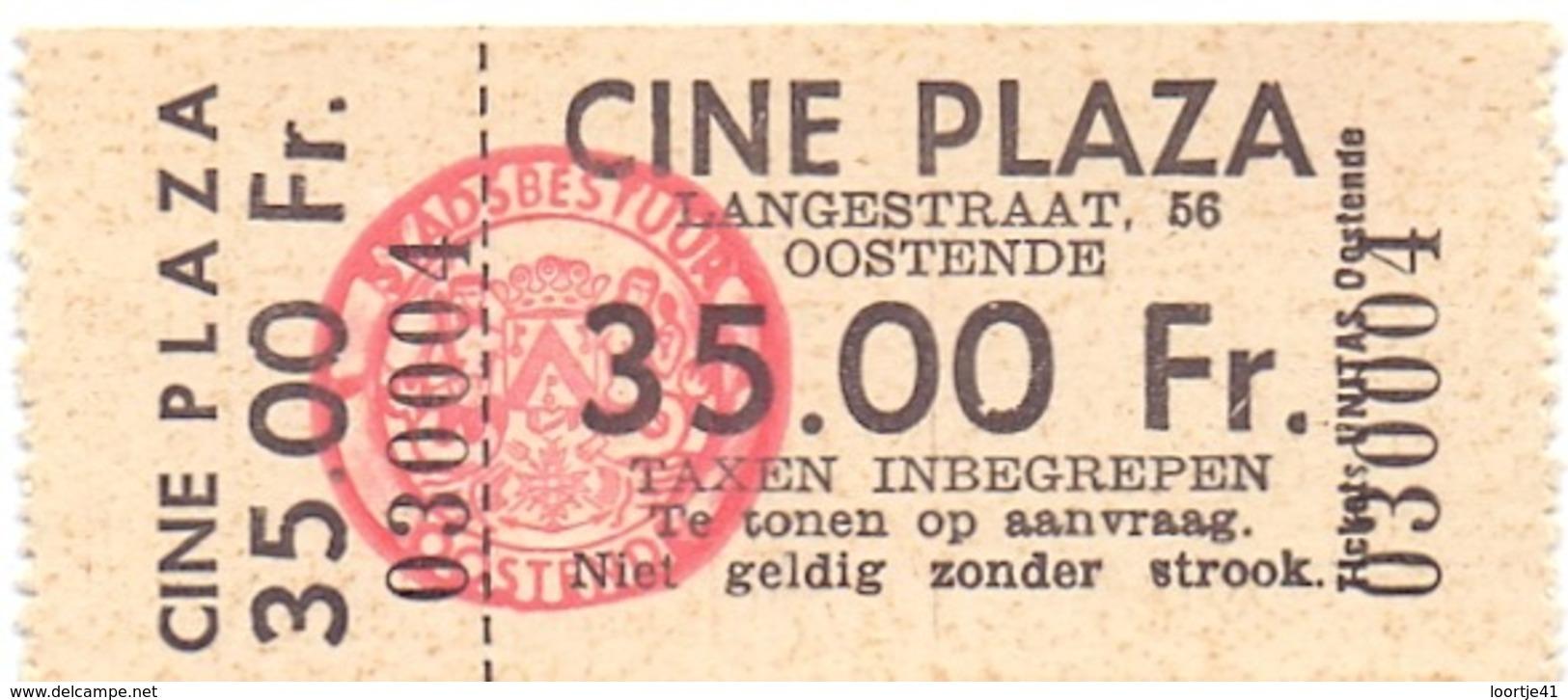 Ticket D' Entrée Ingangsticket - Cinema Bioscoop Ciné Plaza - Oostende - Tickets D'entrée