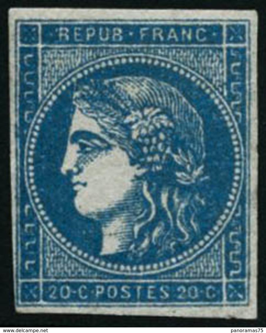 ** N°45C 20c Bleu R3, Type II - TB - 1870 Bordeaux Printing