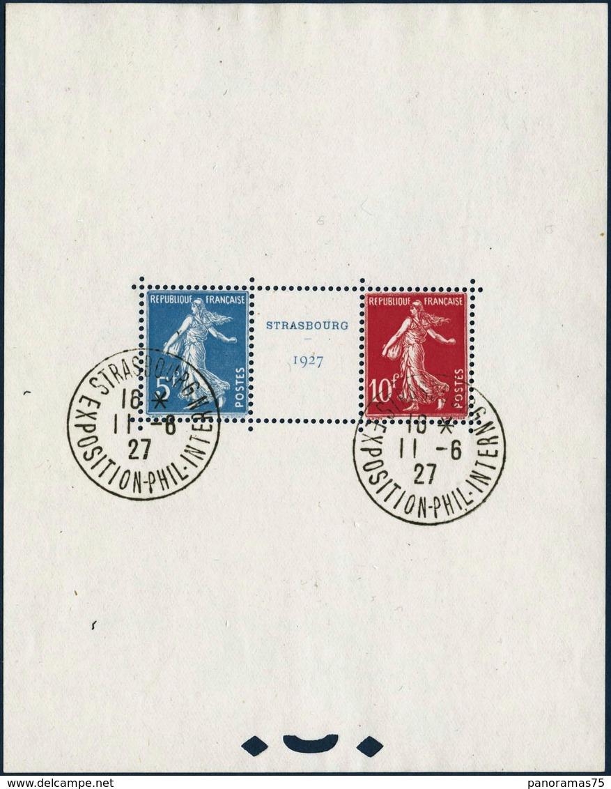 Oblit. N°2 Le Bloc Strasbourg Obl 11/6/27 - TB - Sheetlets