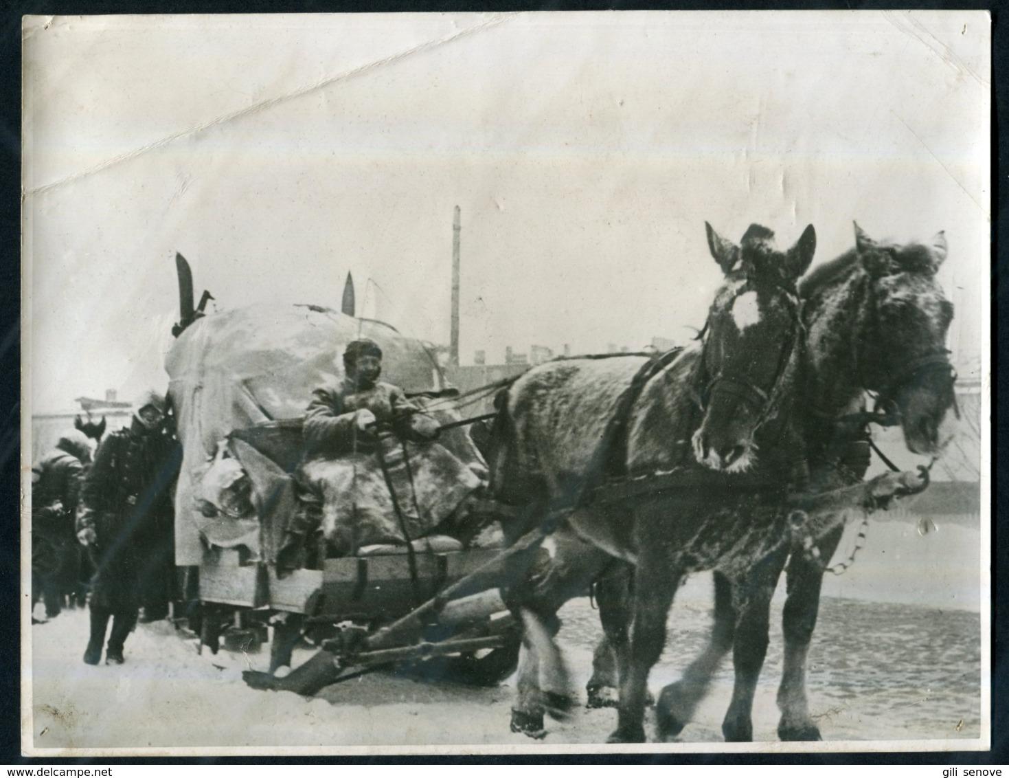 1942 WWII German War Photo / German Army In Winter - 1939-45