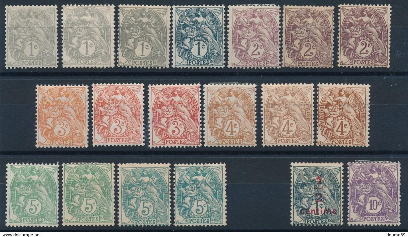 "DD-194: FRANCE: Lot Avec "" Type BLANC"" Neufs* - 1900-29 Blanc"