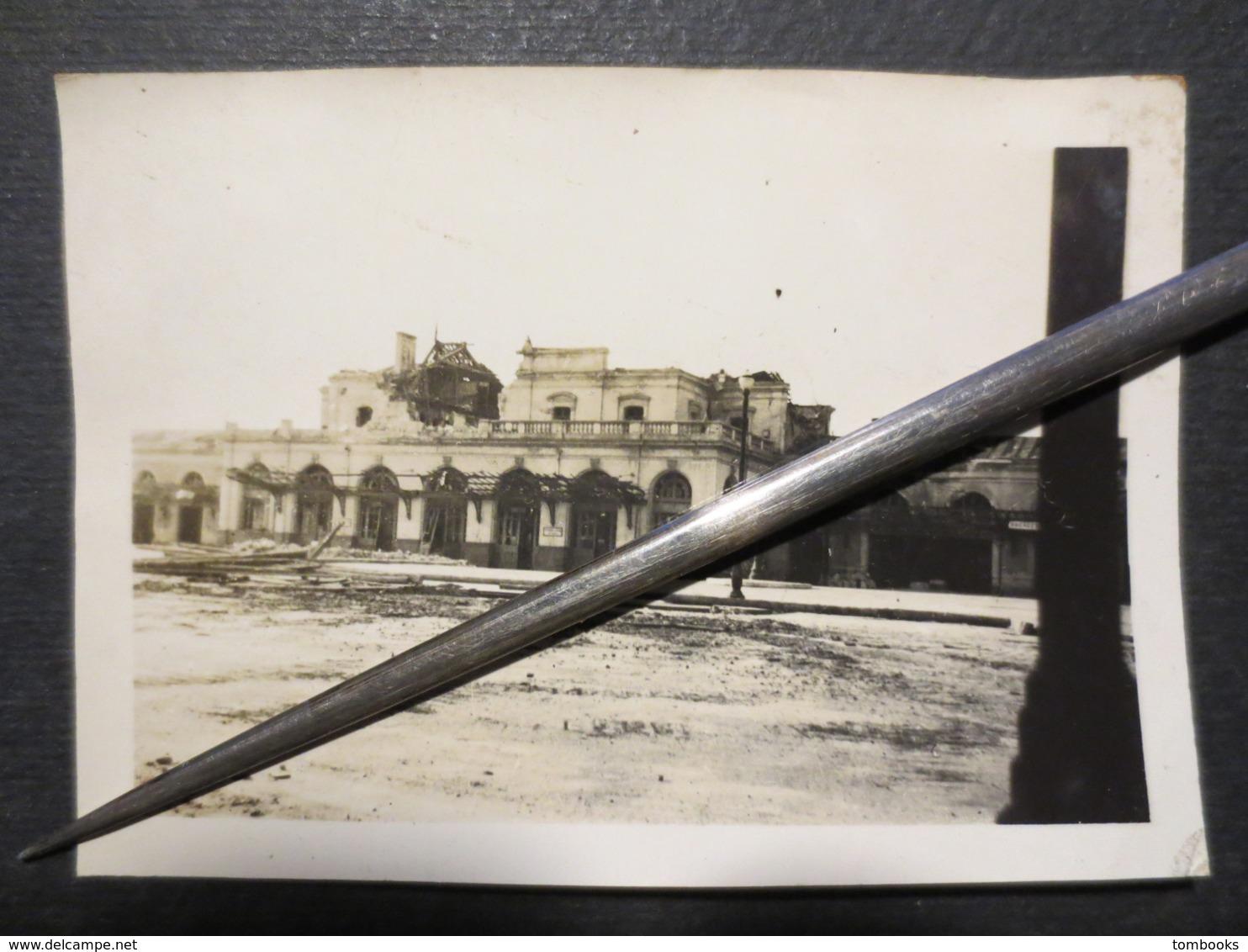 35 - Rennes - Photo Originale - Bombardement La Gare - TBE - - Luoghi