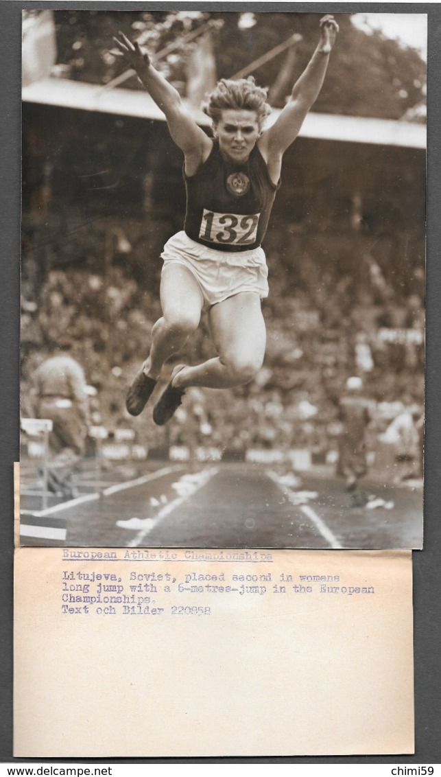 SPORT  Salto In Lungo - Long Jump - Saut En Longueur - LITUJEVA SOVIET -  PHOTO PRESS - Sport