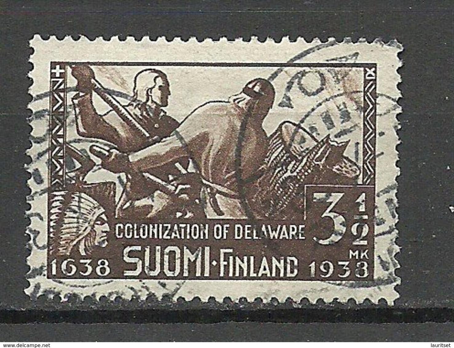 FINLAND FINNLAND 1938 Colony New Sweden Delaware Anniversary Michel 212 O - Finland