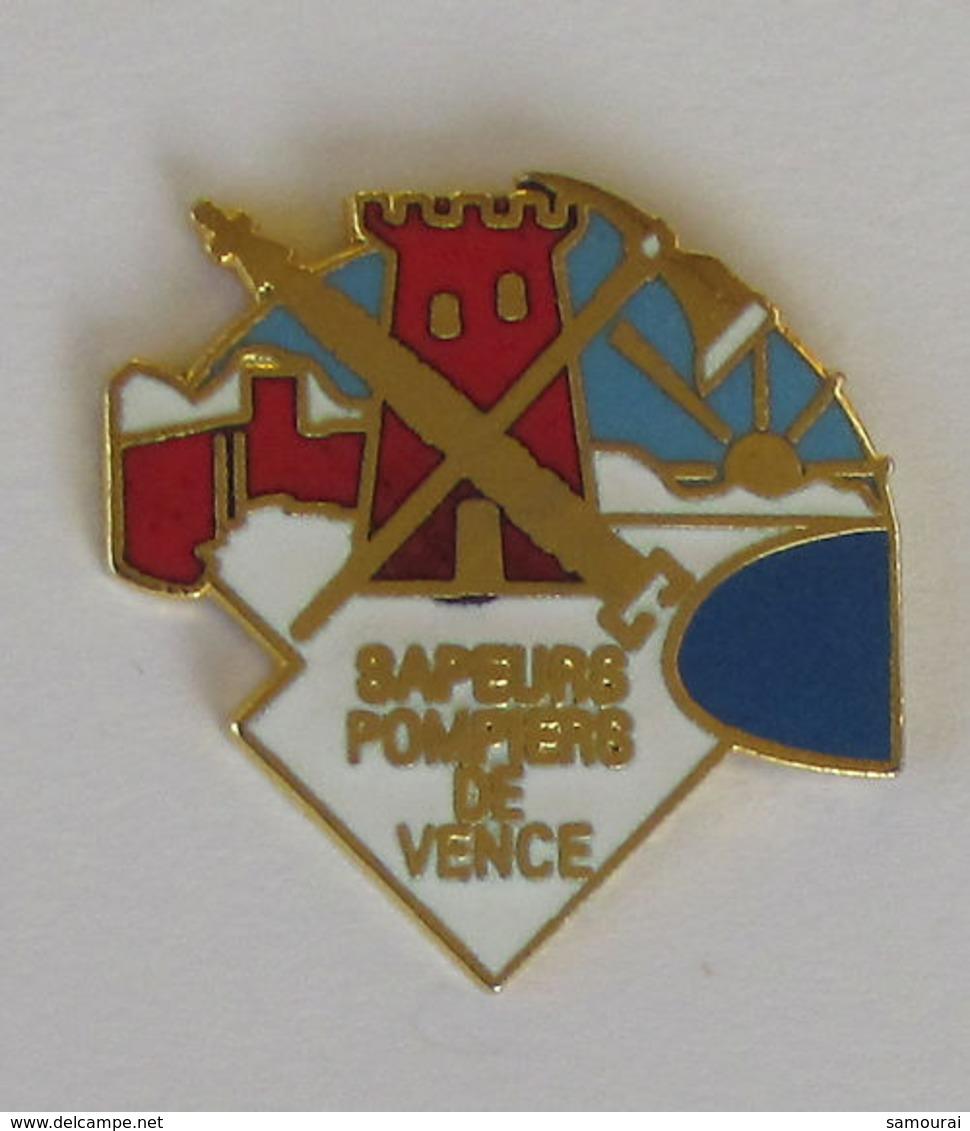 1 Pin's Sapeurs Pompiers De VENCE (ALPES MARITIMES - 06) - Bomberos