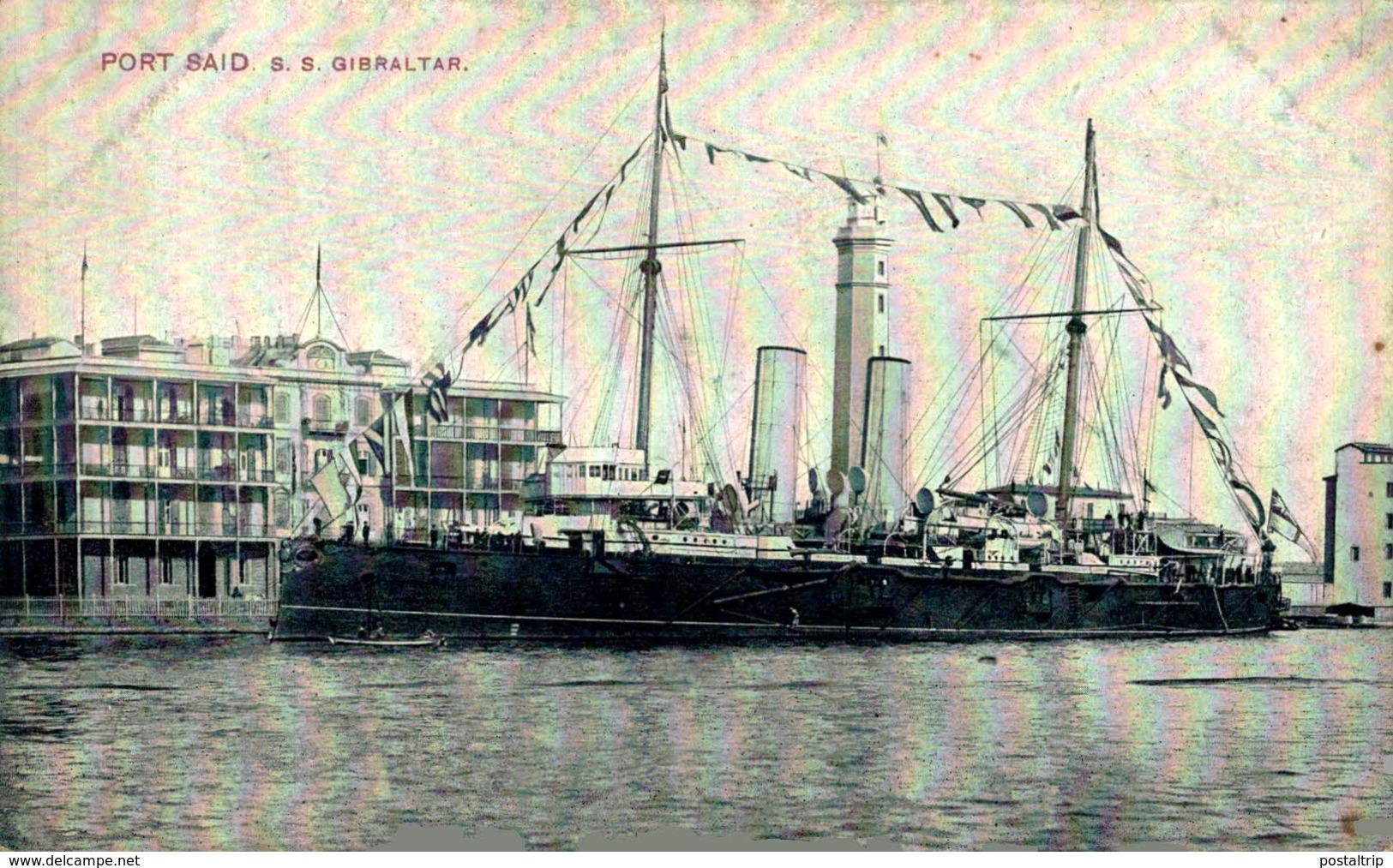 Port Said - S.S. Gibraltar Egypte Egypt EGYPTE - EGYPT - Puerto Saíd