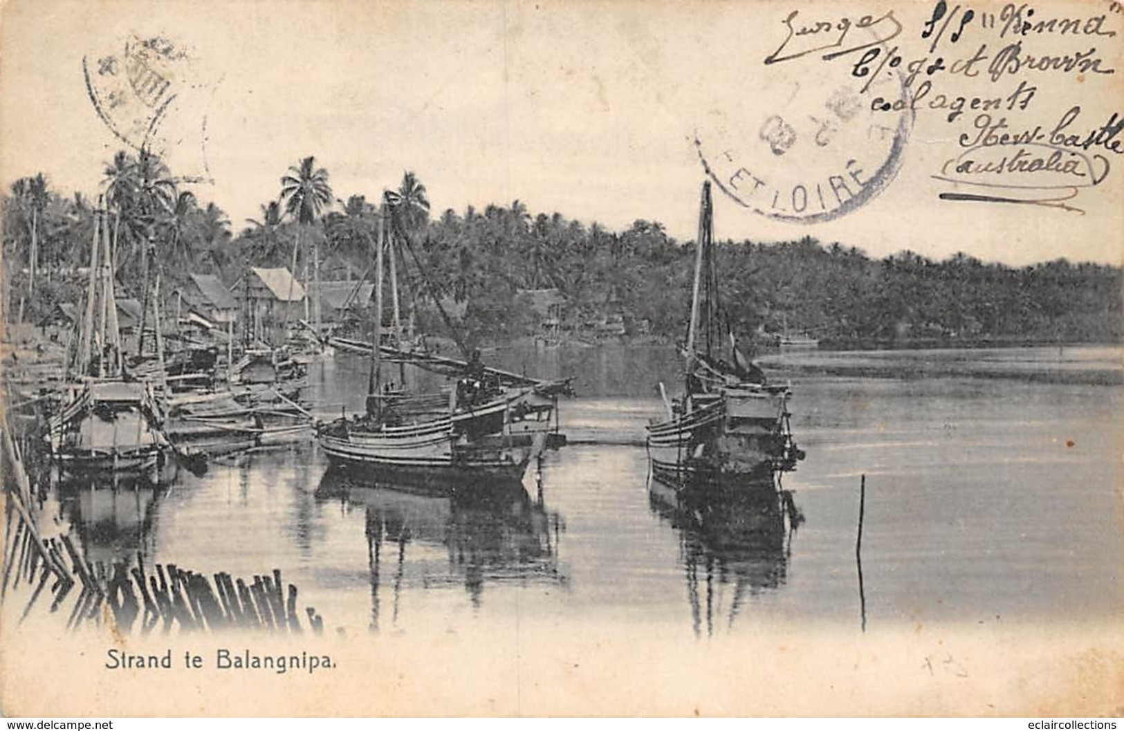 Asie   Birmanie Myanmar.     Strand Te Balangnipa     ( Voir Scan) - Myanmar (Birma)