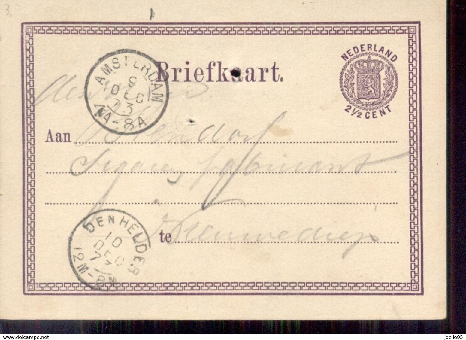 Kleinrond Amsterdam - Den Helder 10 DEC 77 - Poststempel