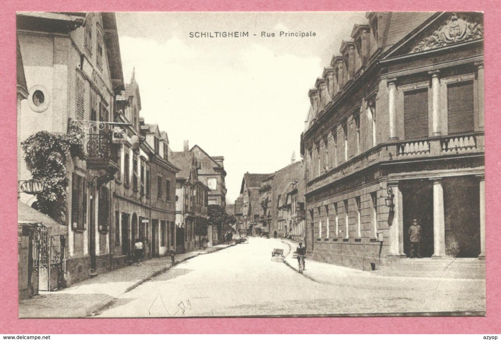 67 - SCHILTIGHEIM - Rue Principale - Mairie - Schiltigheim