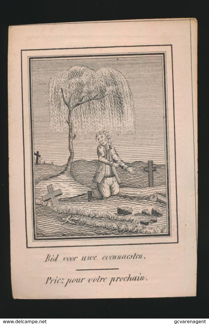 WILHELMUS SCHULPEN -  ROOSTEREN 1773 - 1857    2 AFBEELDINGEN - Overlijden