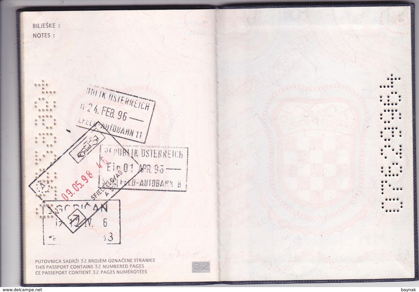 PASSPORT  --   CROATIA  --  I.  MODEL  --  1994  --   GENTLEMAN - Historische Dokumente