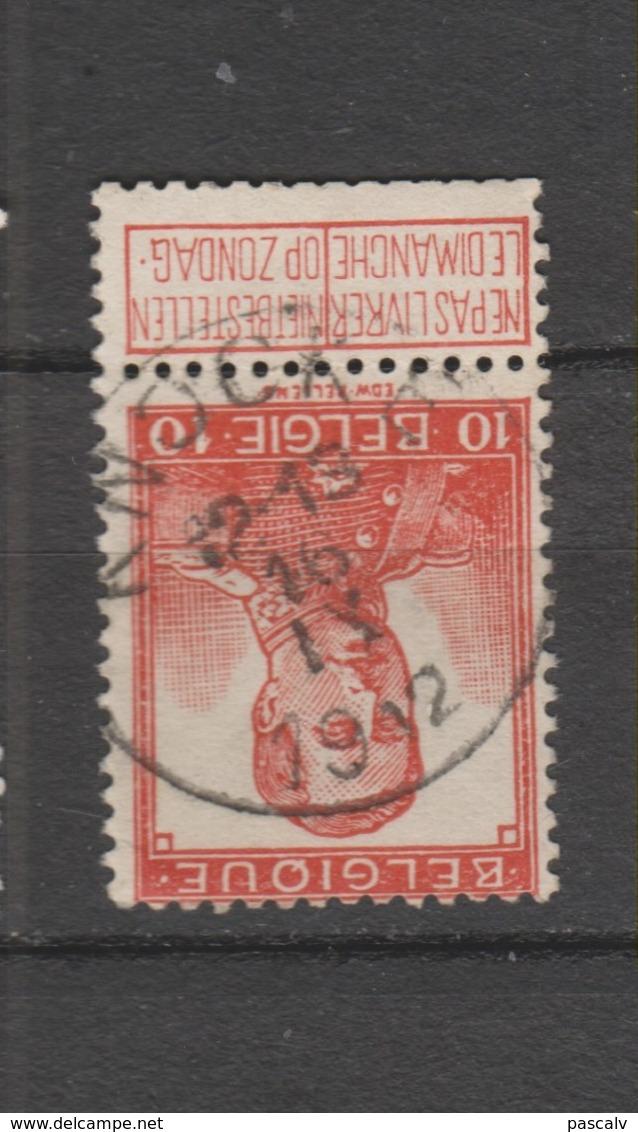 COB 111 Oblitération Centrale KNOCKE - 1912 Pellens