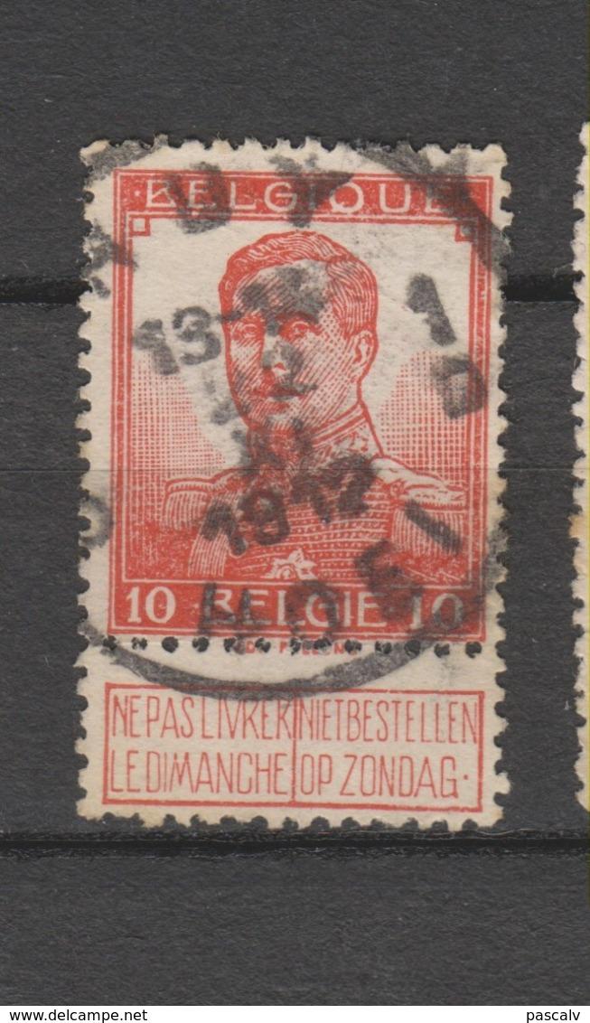 COB 111 Oblitération Centrale HUY - HOEI 1D - 1912 Pellens