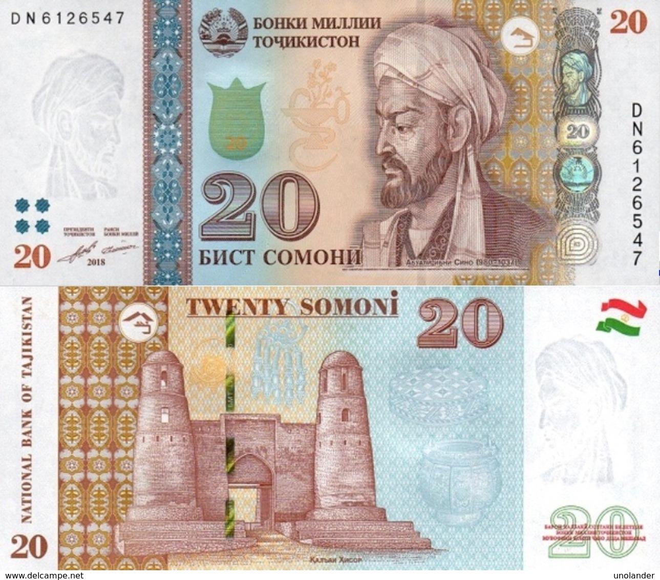 Tajikistan  20 Somoni 2018  P 25 C  UNC - Tadzjikistan