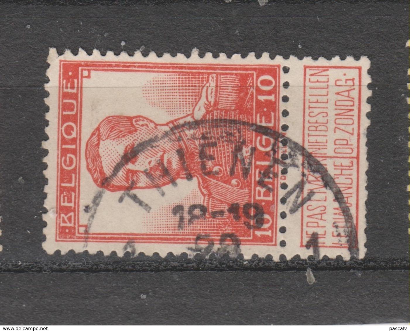 COB 111 Oblitération Centrale THIENEN - TIRLEMONT 1 - 1912 Pellens