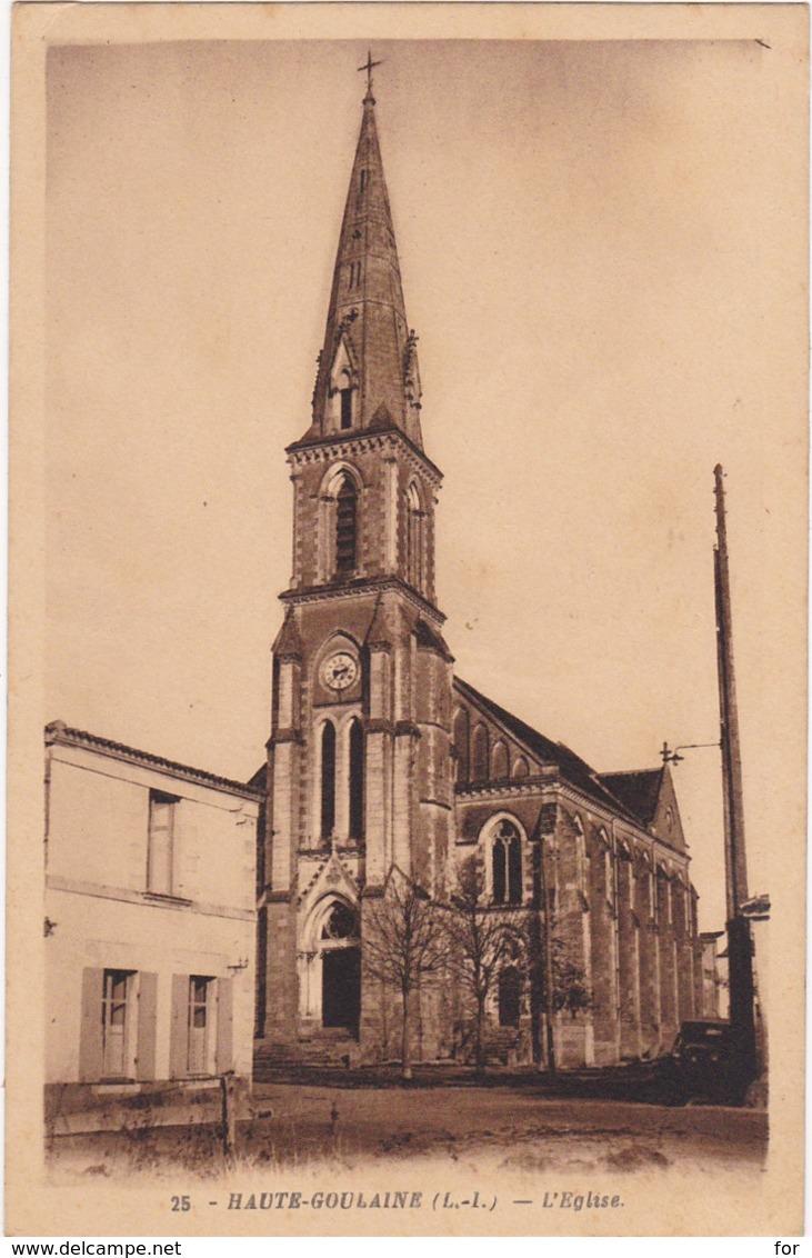 Loire Atlantique : HAUTE-GOULAINE : L'église - Haute-Goulaine
