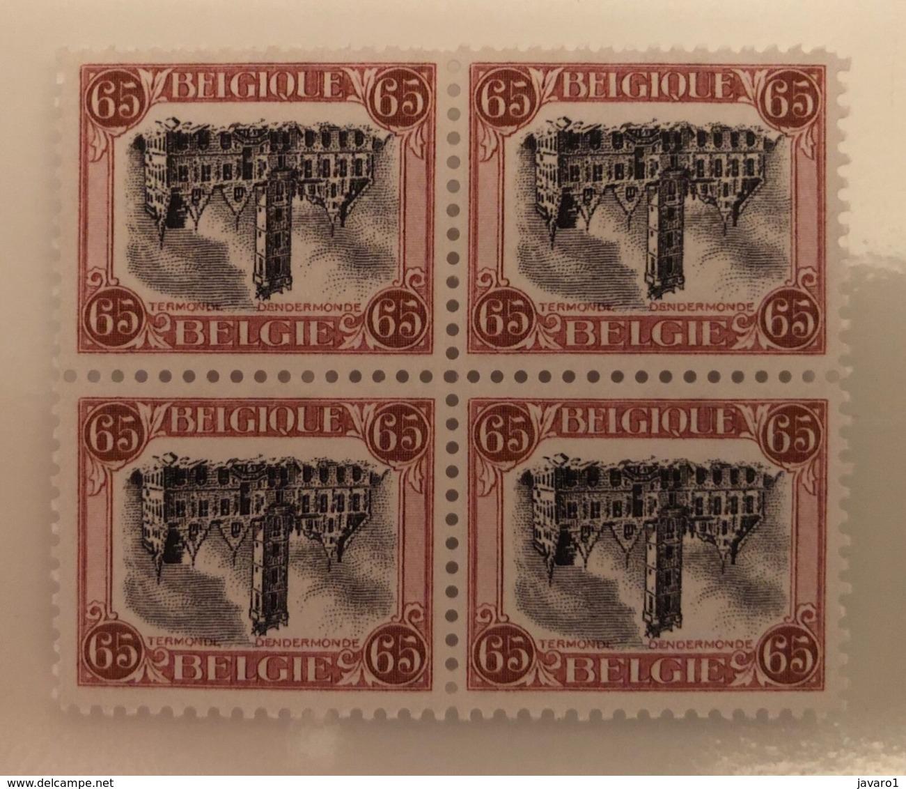 BELGIUM : 182  :  OMGEKEERDE DENDERMONDE  RENVERSE Blok V.4 ( Qualitatief Goede Replica) - Unused Stamps