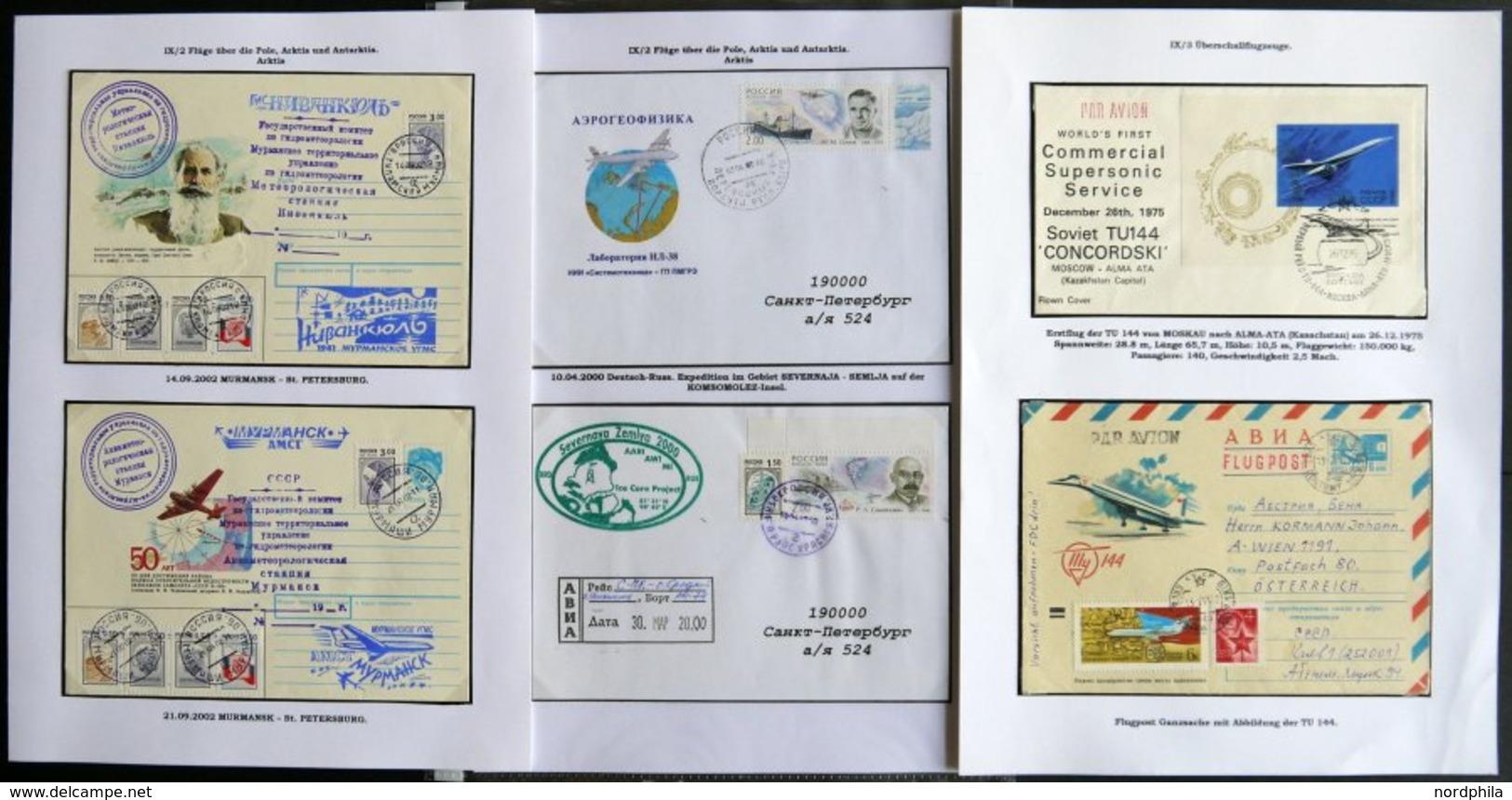 SOWJETUNION 1975-2002, 23 Verschiedene Moderne Flugpostbelege, Dabei: Ukrainische Antarktisstationen, Sevastopol-Antarkt - Used Stamps