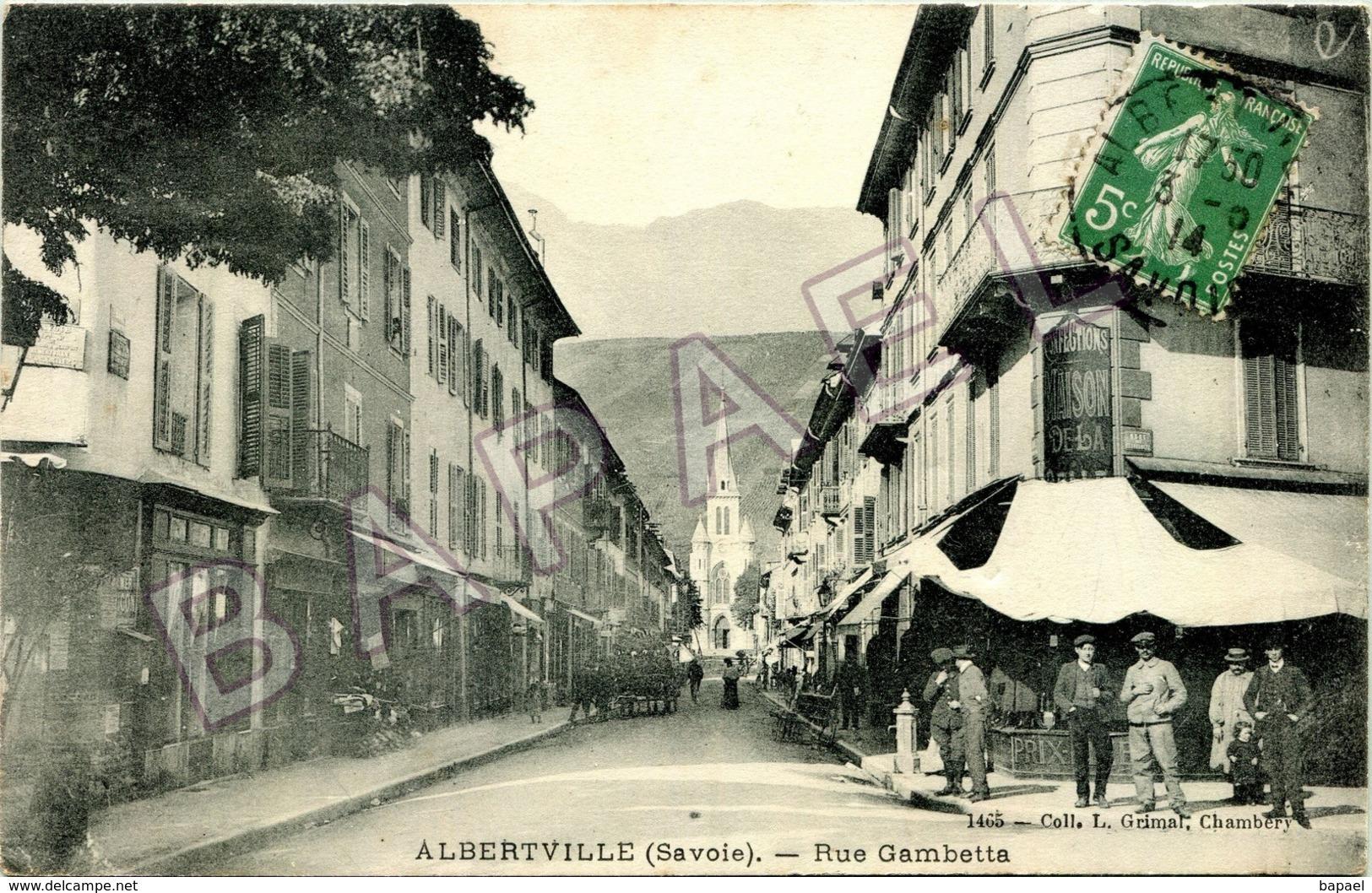 Albertville (73) - Rue Gambetta (Circulé En 1914) - Albertville