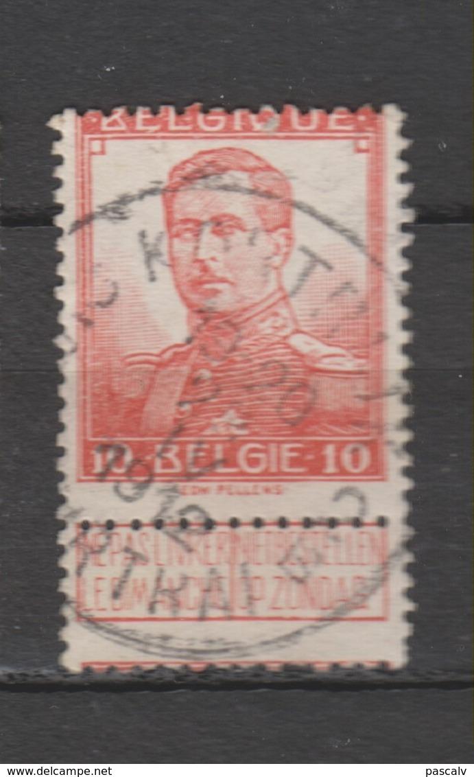 COB 111 Oblitération Centrale COURTRAI - KORTRIJK 2B - 1912 Pellens