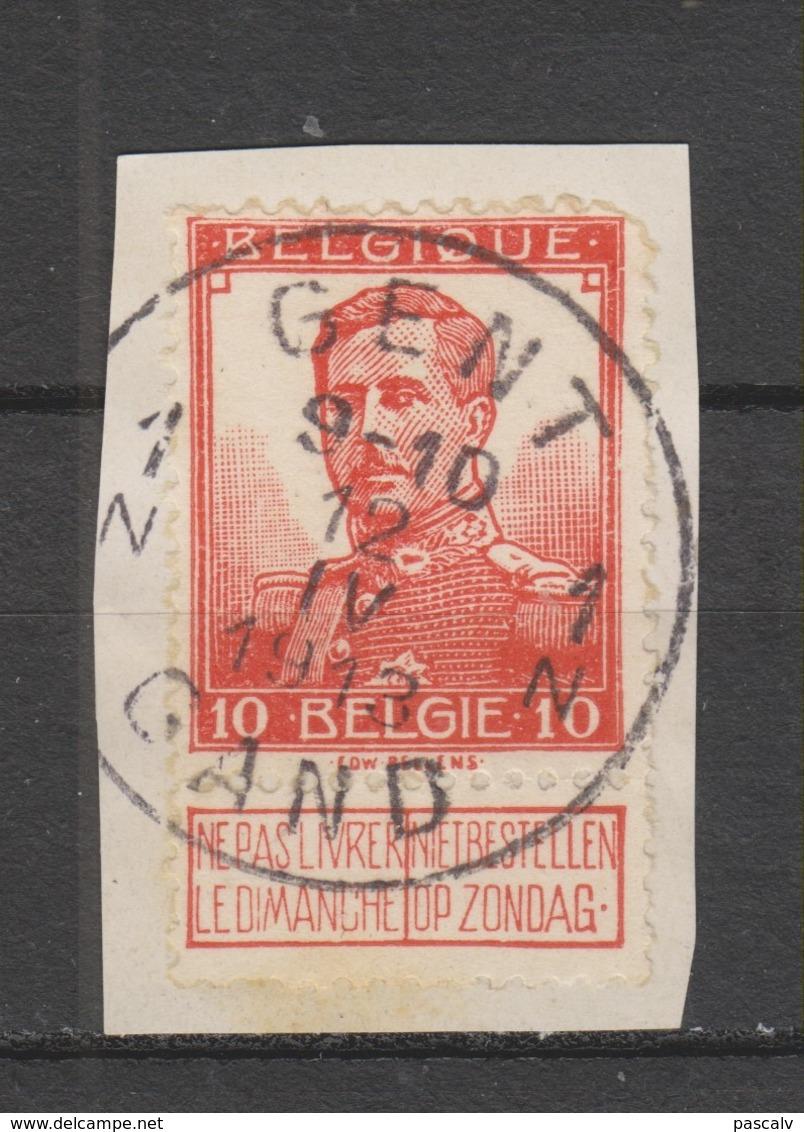 COB 111 Oblitération Centrale GAND - GENT 1N - 1912 Pellens