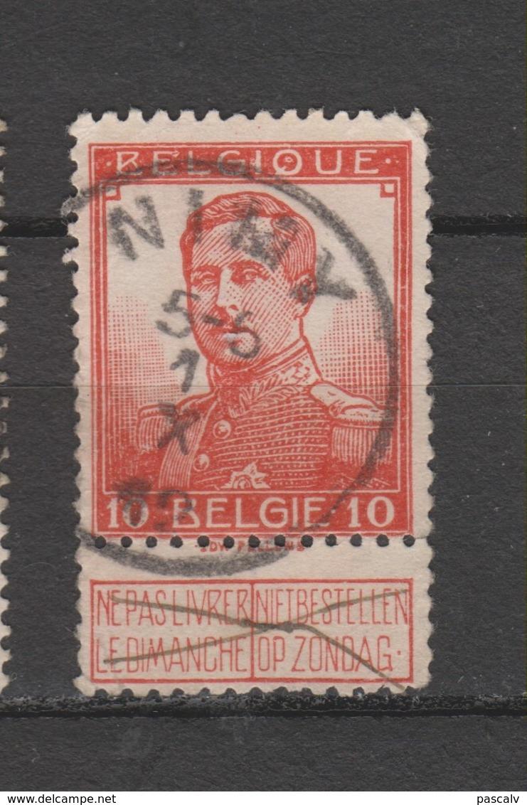 COB 111 Oblitération Centrale NIMY - 1912 Pellens