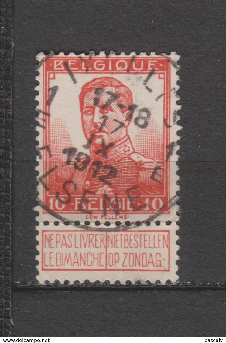 COB 111 Oblitération Centrale IXELLES - ELSENE 1E - 1912 Pellens