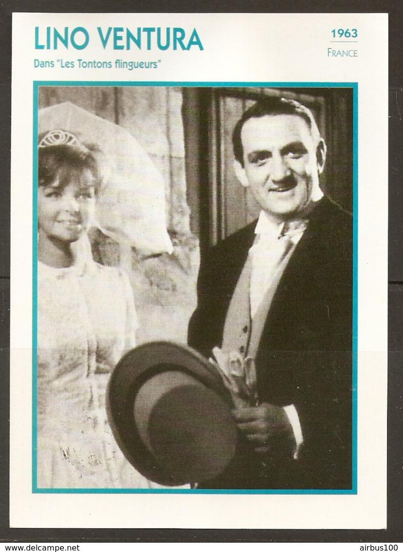 PORTRAIT DE STAR 1963 FRANCE - ACTEUR LINO VENTURA Dans LES TONTONS FLINGUEURS - ACTOR CINEMA FILM PHOTO - Fotos