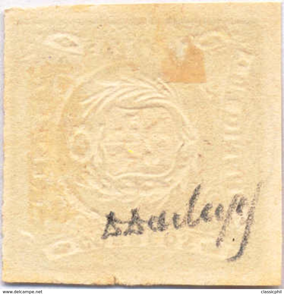 "1868, 1 D., Green, Perfect Cancel ""PASCO"", SUP - XF!. Estimate 200€. - Peru"