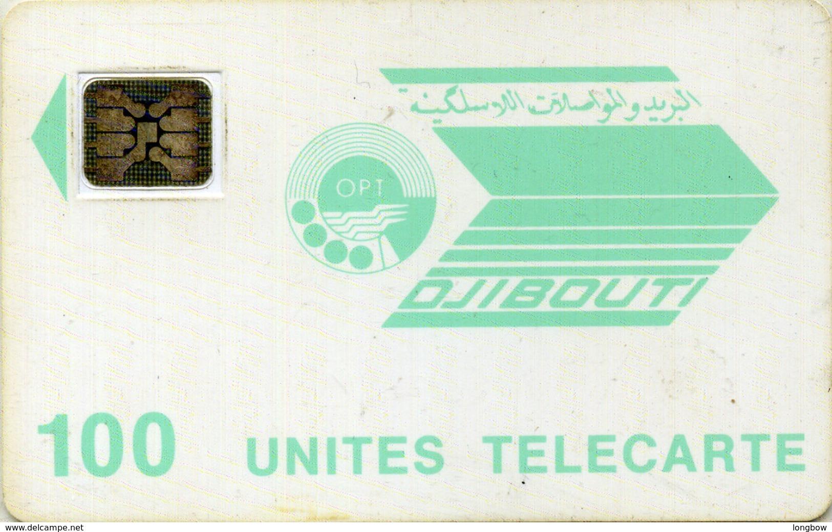 DJIBOUTI-N.11-100u-LIGHT BLUE LOGO-CN.24281 - Dschibuti