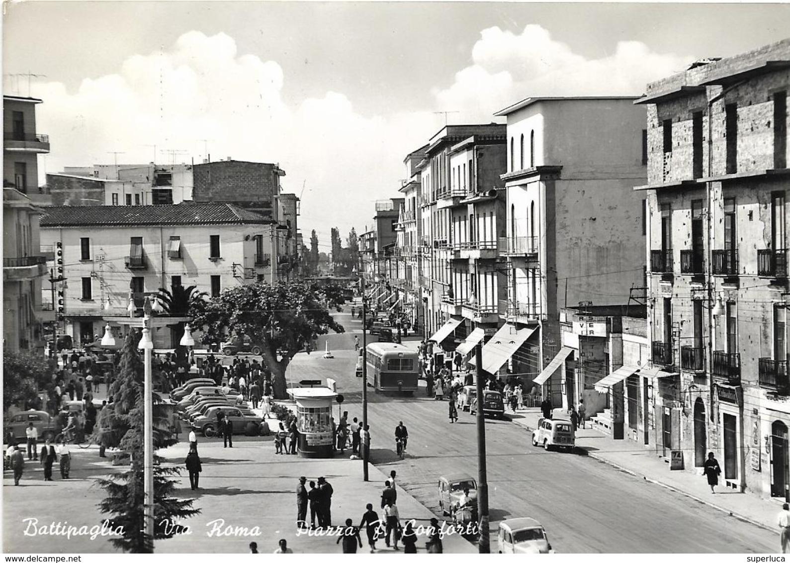 7-BATTIPAGLIA-VIA ROMA-PIAZZA F.CONFORTI-MOLTO ANIMATA - Battipaglia