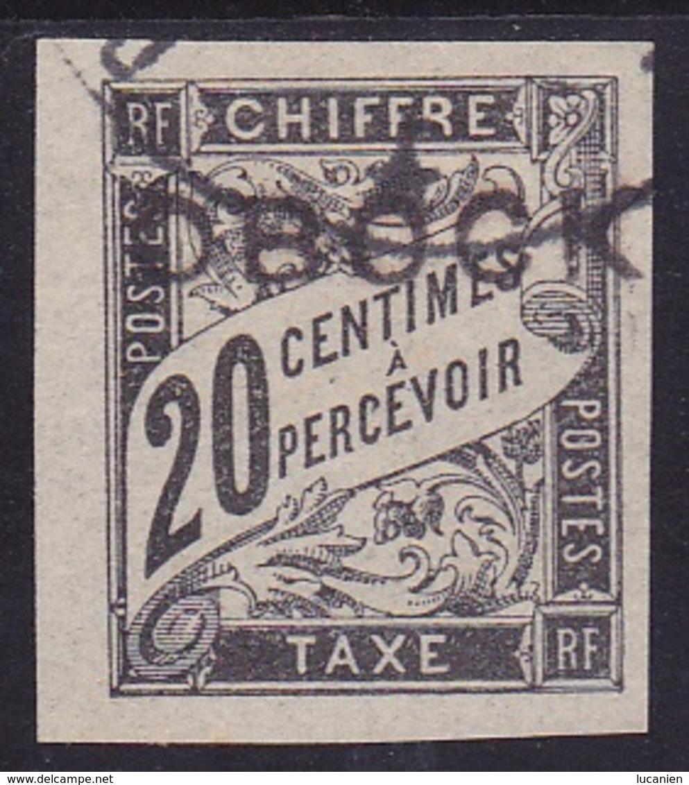 OBOCK Taxe N° 12 Oblitéré  - Voir Verso & Descriptif - - Obock (1892-1899)