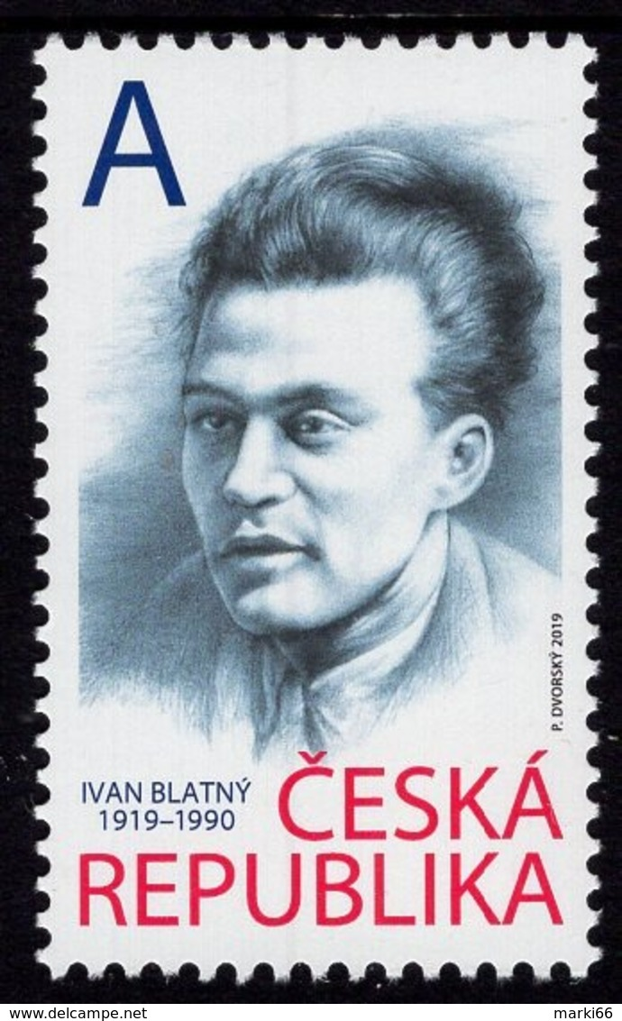 Czech Republic - 2019 - Personalities - Ivan Blatný, Czech Poet - Mint Stamp - Tchéquie