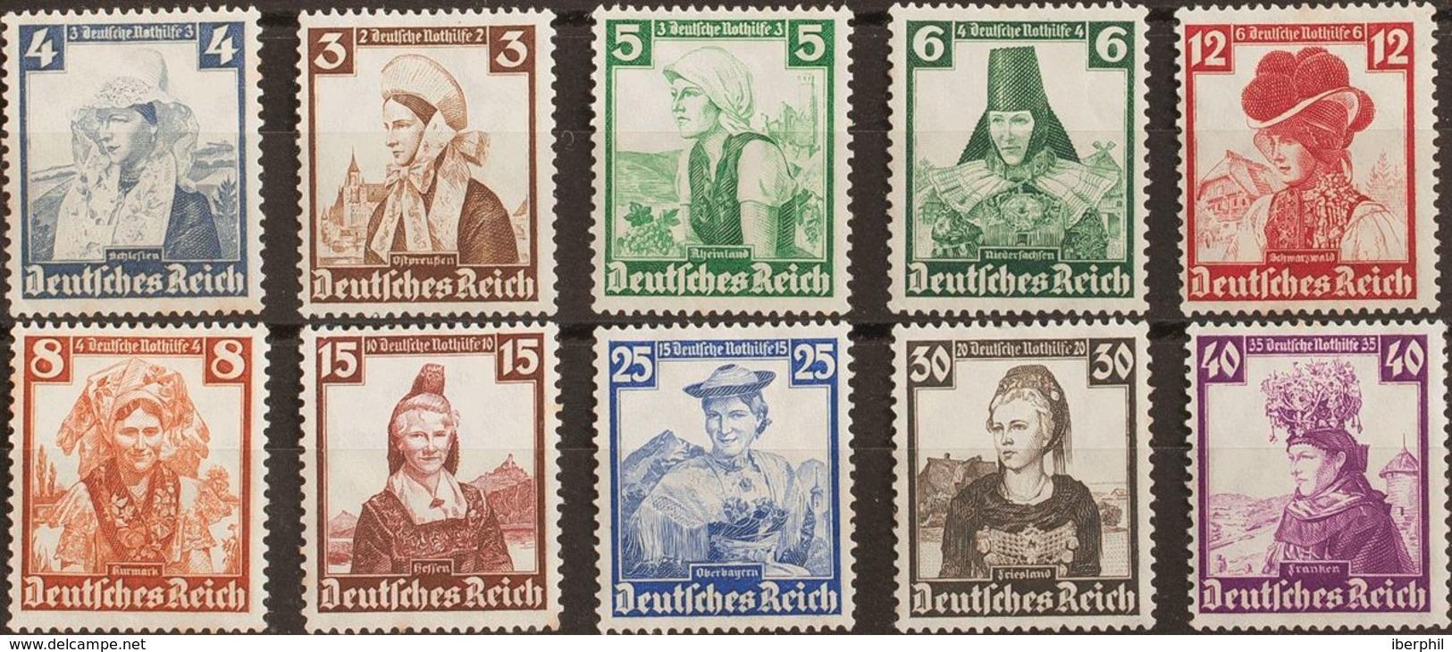 Alemania. MH *Yv 547/56. 1935. Serie Completa. MAGNIFICA. (Mi588/97 40 Euros) - [1] ...-1849 Precursores
