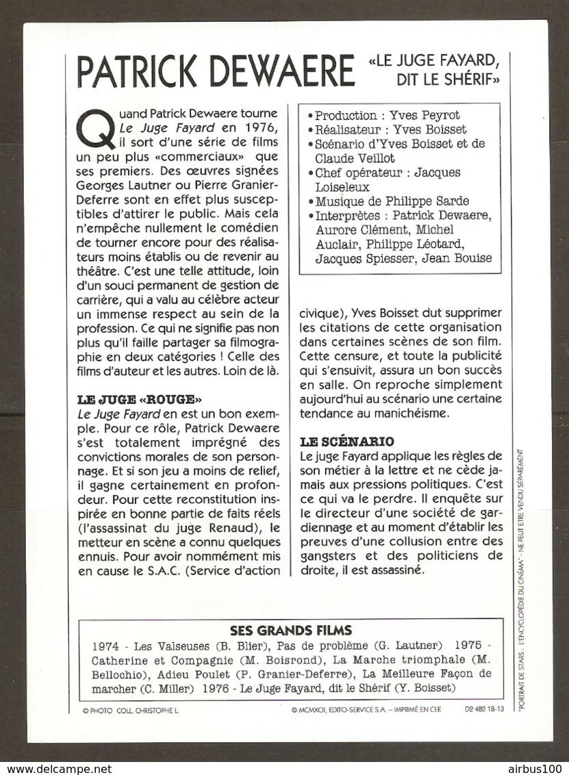 PORTRAIT DE STAR 1975 FRANCE - ACTEUR PATRICK DEWAERE Dans LE JUGE FAYARD DIT Le SHÉRIF - ACTOR CINEMA FILM PHOTO - Fotos